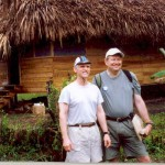 Billy Hibbs Jr. (Tyler Rotary) and Barry Jones (Sunrise Rotary) at a Mayan Indian village in Southern Belize.