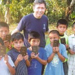 Dr. Mike Geisler (Atlanta, Texas Rotary) with the Mayan Indians in Southern Belize.