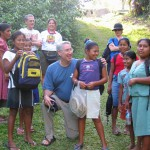 Dr. David Nichols (Tyler Rotary), President of Tejas Missions, with the Mayan Indians in Southern Belize.